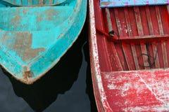 海在沙巴的吉普赛人小船 库存图片