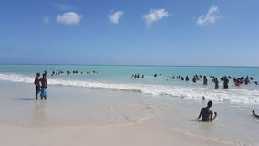 海在海地 库存图片