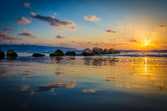 海在海法 免版税图库摄影