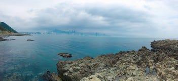 海在釜山 免版税库存照片