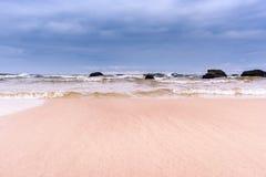 海在风暴日 免版税库存照片