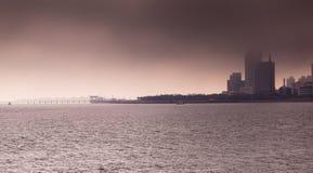 海在琴岛 库存照片