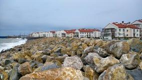 黑海在1月天 图库摄影