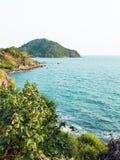 海在Chantaburi,泰国 免版税图库摄影