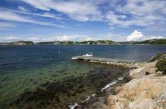 海在Kosterhavet国家公园,瑞典 库存图片