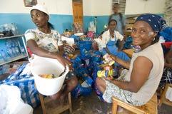 海地人的妇女 库存照片