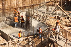 海地人的建造场所 免版税库存图片