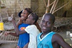 海地人的青年时期 免版税库存照片