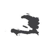 海地共和国地图剪影 图库摄影