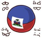 海地国家球 库存例证