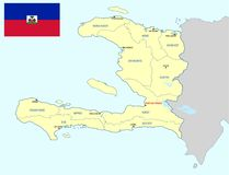 海地地图 库存照片