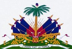 海地徽章 库存图片