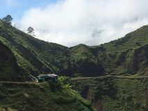 海地的山的议院 免版税库存照片