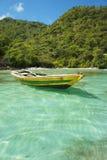 海地的渔船 库存照片