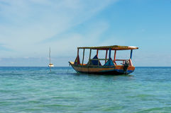 海地的渔船 库存图片