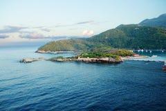 海地的逃出克隆岛 加勒比 免版税图库摄影