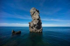 海堆在Giglio海岛 免版税库存图片