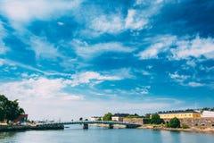 海堡垒 在芬兰堡的居民住房 免版税库存图片