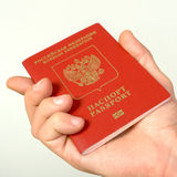 海外旅游的俄国护照。 免版税图库摄影