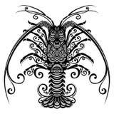 海大螯虾 皇族释放例证