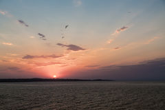 海天空日落 图库摄影