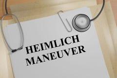 海姆利克氏操作法-医疗概念 库存例证