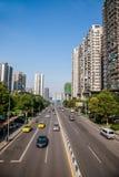 海尔路,江北区,重庆自治市 免版税图库摄影