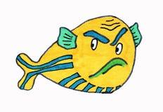 ?? 海居民,鱼 kawaii animais 库存例证