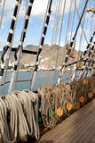 海岛亲切的帆船 免版税库存图片