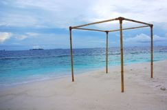 海岛候爵,马尔代夫 免版税库存照片