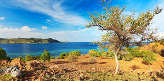 海岛全景 免版税库存照片