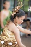 从海岛南太平洋的女孩 免版税库存照片