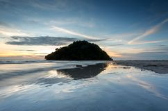 海岛和反射 库存照片