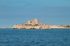 海岛和堡垒城堡 法国马赛 库存图片