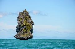 面孔人海岛 库存图片