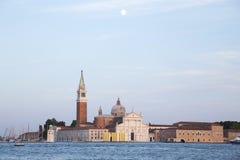 海岛圣乔治堂马吉欧雷在威尼斯 免版税库存照片