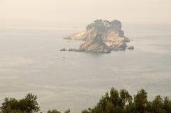 海岛圣周在黑山 免版税库存图片