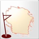 海岛在一个秘密地点的海 免版税库存图片