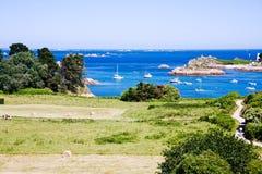 海岛在布里坦尼,法国 库存图片