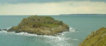 海岛在布里坦尼 库存图片