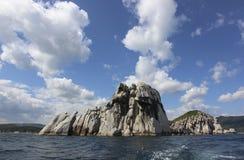 海岛在日本海 库存图片