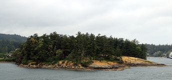 海岛在温哥华,加拿大 免版税图库摄影