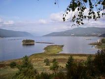 海岛在湖 免版税库存图片