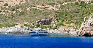 海岛在爱奥尼亚海,扎金索斯州 库存照片