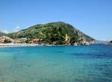 海岛在爱奥尼亚海 免版税库存图片