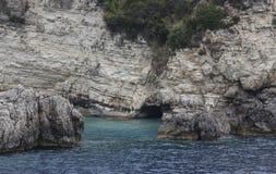 海岛在爱奥尼亚海 库存照片