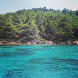 海岛在爱琴海 免版税图库摄影