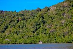 海岛在Phang Nga海湾, Phang Nga,泰国 图库摄影