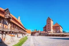 海岛城堡在Trakai,立陶宛 库存照片