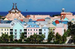 海岛天堂城镇 库存照片